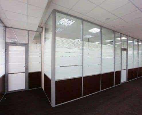 Man Ofis F300 Serisi Yarım Camlı Bölme Duvar Sistemleri