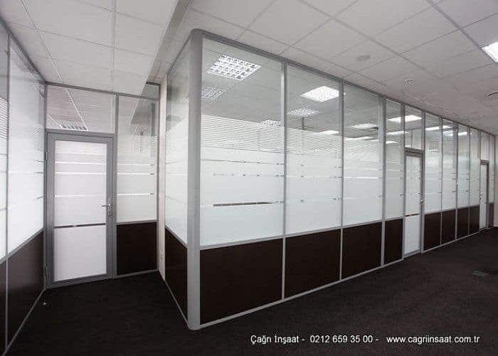 Man Ofis F300 Serisi Yarım Camlı Ofis Bölme Duvar