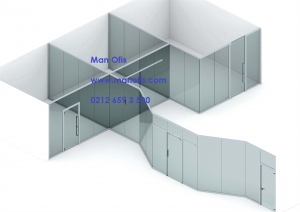 glass partition model