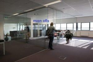man ofis,cam bölme sistemleri