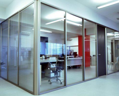 çift camlı jaluzil ofis bölme profili 8cm