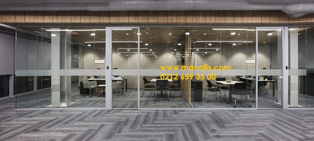 Single pane glass window office partition profile 4 cm