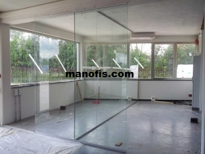 office partition installation picture